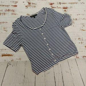 Topshop Tall t-shirt crop top (162)